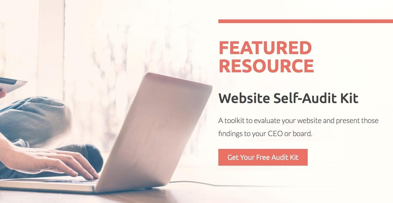 featured resource website self audit kit